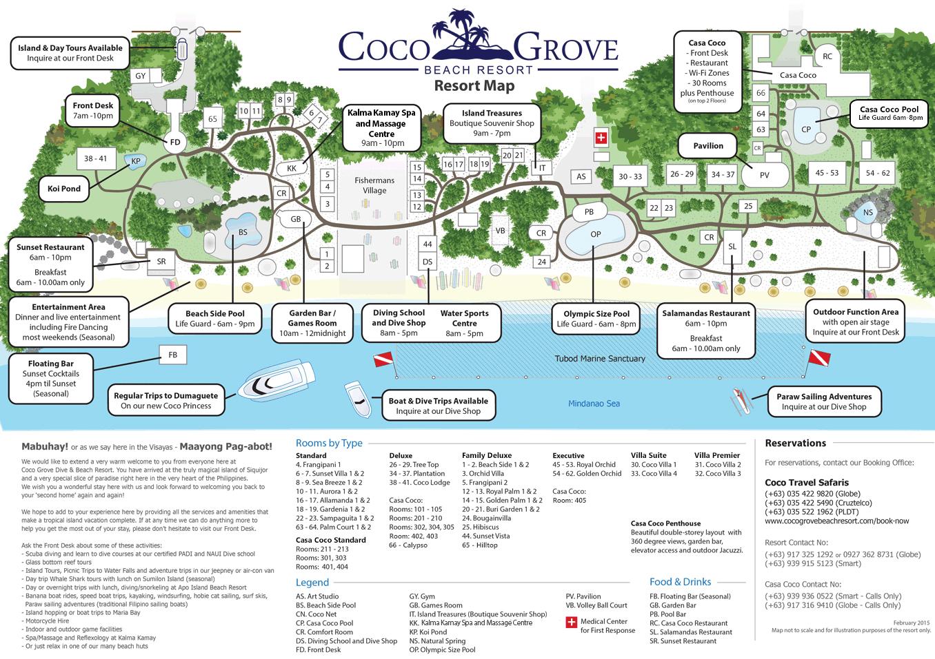 resort map coco grove beach resort siquijor philippines
