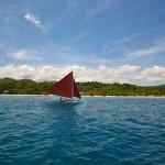 Paraws Sailing Across the Resort
