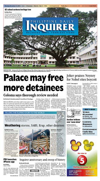 Featured: Philippine Daily Inquirer 2010 Image